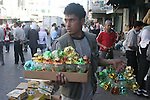 Palestinians shop at a traditional market in preparation for the holy month of Ramadan. Islam's holy month of Ramadan will begin in 13 September in the Middle East depending on the sighting of the crescent moon. Muslims all over the world will fast from the dawn until the dusk.