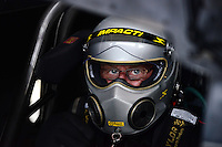 Sept. 28, 2012; Madison, IL, USA: NHRA funny car driver Peter Russo during qualifying for the Midwest Nationals at Gateway Motorsports Park. Mandatory Credit: Mark J. Rebilas-