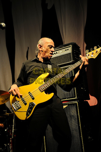 LONDON, ENGLAND - March 28: Norman Watt-Roy of Wilko Johnson Band performs in concert at the Eventim Apollo on March 28, 2014 in London, England<br /> CAP/MAR<br /> &copy; Martin Harris/Capital Pictures