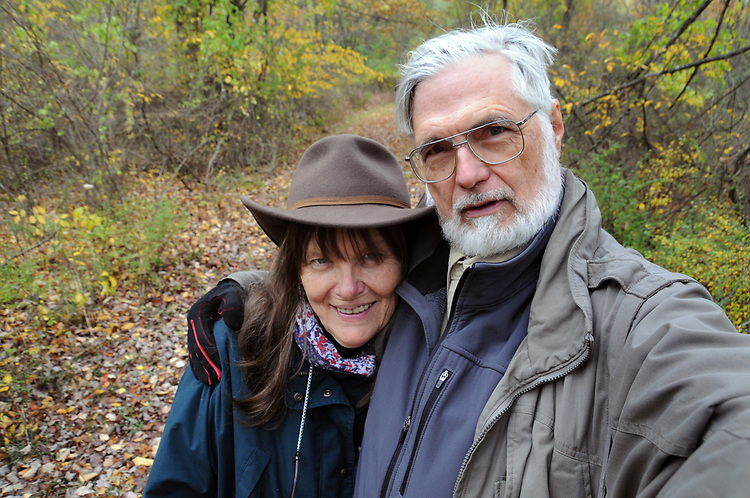 Ginny Christensen and Jim Peppler, selfie in the Esopus Bend Nature Preserve in Saugerties, NY, on Sunday, October 23, 2016. Photo by Jim Peppler. Copyright Jim Peppler 2016 all rights reserved.