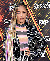 "LOS ANGELES - JULY 08: Actor Serayah attends the Red Carpet Event for FX's ""Snowfall"" Season Three Premiere Screening at USC Bovard Auditorium on July 8, 2019 in Los Angeles, California. (Photo by Frank Micelotta/PictureGroup)"