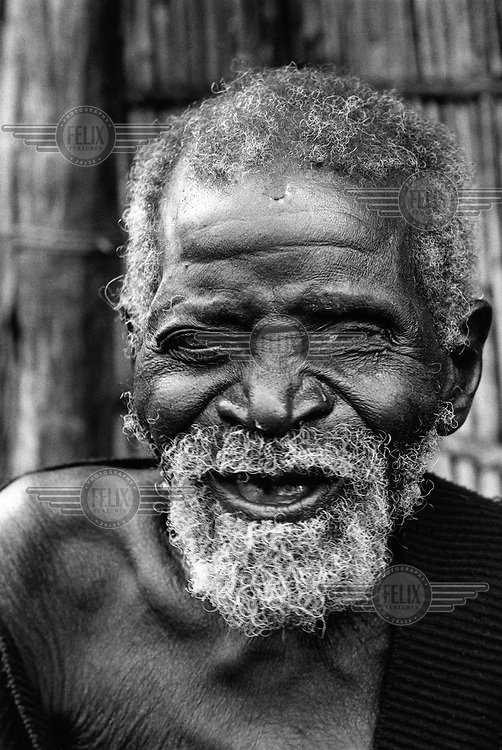 Old man in the village of Savane..