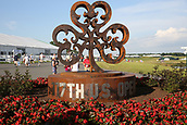 June 14th 2017, Erin, Wisconsin, USA; A general view of the logo structure at the front entrance seen during the 117th US Open - Practice Round at Erin Hills in Erin, Wisconsin