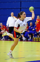 31 MAR 2010 - LONDON, GBR - Britains Kelsi Fairbrother takes a 7m throw during the Great Britain v Iceland 2010 European Womens Handball Championships qualifier (PHOTO (C) NIGEL FARROW)