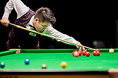 30th January 2019, Berlin, Germany;  Zhou Yuelong, snooker player from China, plays against Mark Williams from Wales at the German Masters 2019.