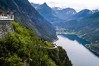Norway, Geiranger. The Geiranger Fjord