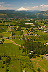 Aerial View of Hood River Farmland, Oregon