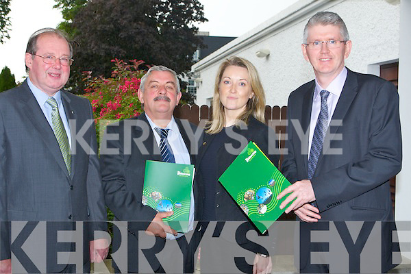 SPEAKERS: Speakers on the Gathering Seminar at Ballygarry House Hotel & Spa, Tralee on Wednesday evening, L-r: John Griffin (KCC), Fiona Buckley (Reginal Manager Falta Ire S/W), Sean Lyons (Writers Week,Listowel) and Jim Miley (National Dir of the Gathering).