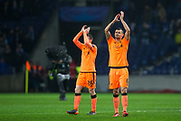 Liverpool's Dejan Lovren applauds the fans at the final whistle <br /> <br /> Photographer Craig Mercer/CameraSport<br /> <br /> UEFA Champions League Round of 16 First Leg - FC Porto v Liverpool - Wednesday 14th February 201 - Estadio do Dragao - Porto<br />  <br /> World Copyright &copy; 2018 CameraSport. All rights reserved. 43 Linden Ave. Countesthorpe. Leicester. England. LE8 5PG - Tel: +44 (0) 116 277 4147 - admin@camerasport.com - www.camerasport.com
