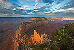Wotan's Throne as viewed from the overlook at Cape Royal on the North Rim of the Grand Canyon, Arizona