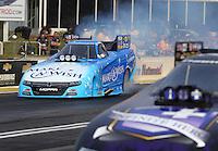 May 15, 2015; Commerce, GA, USA; NHRA funny car driver Tommy Johnson Jr during qualifying for the Southern Nationals at Atlanta Dragway. Mandatory Credit: Mark J. Rebilas-USA TODAY Sports