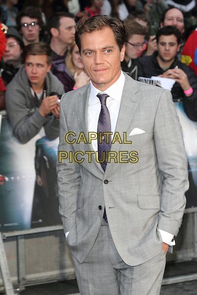Michael Shannon<br /> 'Man Of Steel' UK film premiere, Empire cinema, Leicester Square, London, England.<br /> 12th June 2013<br /> half length grey gray suit white shirt purple tie<br /> CAP/ROS<br /> &copy;Steve Ross/Capital Pictures