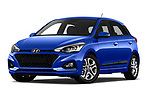 Stock pictures of low aggressive front three quarter view of a 2019 Hyundai i20 Twist 5 Door Hatchback