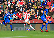4th November 2017, bet365 Stadium, Stoke-on-Trent, England; EPL Premier League football, Stoke City versus Leicester City; Eric Maxim Choupo-Moting of Stoke City moves through into attack