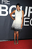 """Alicia Quarles in Fabiola dress attends the World Premiere of """"The Bourne Legacy"""" on July 30, 2012 at The Ziegfeld Theatre in New York City. The movie stars Jeremy Renner, Rachel Weisz, Edward Norton, Stacy Keach, Dennis Boutsikaris and Oscar Isaac."""