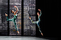 London, UK. 07.11.2019. Rambert presents RAMBERT EVENT, by Merce Cunningham, at Sadler's Wells. Choreography by Merce Cunningham, staging by Jeannie Steele, Music by Philip Selway, Quinta and Adem Ilhan, designs inspired by Gerhard Richter's 'Cage' series, performed by Rambert. The dancers are: Liam Francis, Hannah Rudd. Photograph © Jane Hobson.