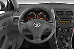 Steering wheel view of a 2009 Toyota Corolla 4 Door