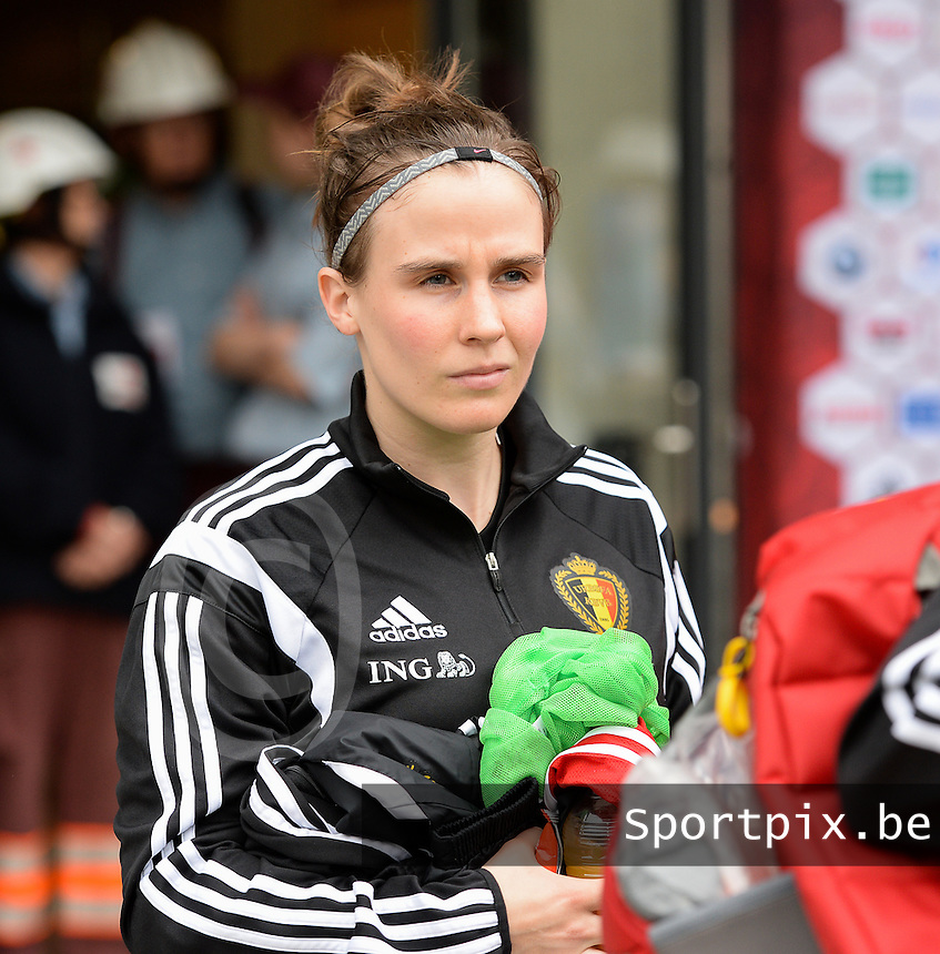20150523 - SINT-TRUIDEN ,  BELGIUM : Belgian Marlies Verbruggen pictured during the friendly soccer game between the Belgian Red Flames and Norway, a preparation game for Norway for the Women's 2015 World Cup, Saturday 23 May 2015 at Staaien in Sint-Truiden , Belgium. PHOTO DAVID CATRY