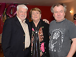 Pat Donaghy celebrating her 70th birthday in Tommy Hanratty's with her brothers Brendan and Adrian Caffrey. Photo:Colin Bell/pressphotos.ie