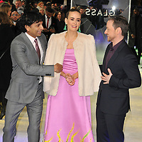 M. Night Shyamalan and Sarah Paulson and James McAvoy at the &quot;Glass&quot; UK film premiere, Curzon Mayfair, Curzon Street, London, England, UK, on Wednesday 09 January 2019.<br /> CAP/CAN<br /> &copy;CAN/Capital Pictures