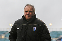 Steve Lovell (Manager) of Gillingham during the Sky Bet League 1 match between Gillingham and Fleetwood Town at the MEMS Priestfield Stadium, Gillingham, England on 27 January 2018. Photo by David Horn.