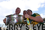 Johnny Buckley, Fionn Fitzgerald and Stephen O'Brien after defeating Donegal in the GAA All Ireland Senior Football Championship final.