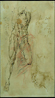 BNPS.co.uk (01202 558833)<br /> Pic: WebbsOfWilton/BNPS<br /> <br /> A drawing 'after' Bandinelli.<br /> <br /> Drawings and paintings by one of the world's most colourful and notorious art forgers, including a sketch that duped a top auctionhouse, are up for sale.<br /> <br /> Master forger Eric Hebborn fooled art dealers, galleries and auction houses worldwide with his work in the style of old masters, and many of his works which were sold as originals still hang in museums and galleries.<br /> <br /> Hugely talented Hebborn could mimic the style's of many of the world's most famous artist's, and the auction contains works 'After' Michelangelo, Rembrandt, Claude, Augustus John and Bandinelli.<br /> <br /> His paintings are being auctioned by Webbs of Wilton in Wiltshire on Wednesday, as well as manuscripts and books on the art of forging.