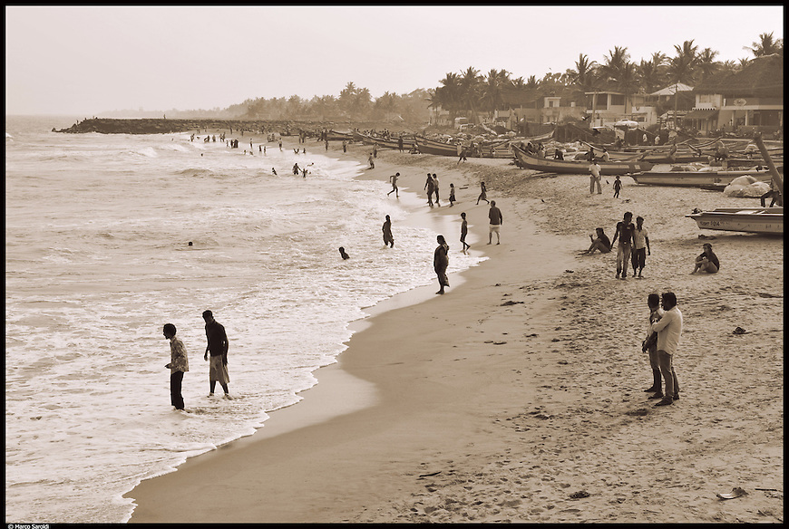 Serenity Beach, just 2 km away from Pondicherry. South India.