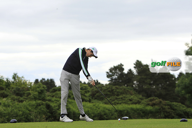 Richard Duggan (Kilkenny) on the 15th tee during R2 of the 2016 Connacht U18 Boys Open, played at Galway Golf Club, Galway, Galway, Ireland. 06/07/2016. <br /> Picture: Thos Caffrey | Golffile<br /> <br /> All photos usage must carry mandatory copyright credit   (&copy; Golffile | Thos Caffrey)