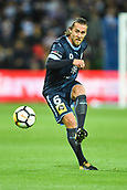 3rd November 2017, Melbourne Rectangular Stadium, Melbourne, Australia; A-League football, Melbourne City FC versus Sydney FC; Joshua Brillante of Sydney FC kicks the ball