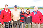 At the All Ireland Costal Rowing Championships in Waterville at the Weekend were l-r; Tony McGillicuddy, Robbie O'Mahony, Liam O'Shea, Pat Cuffe & Damien Duff.