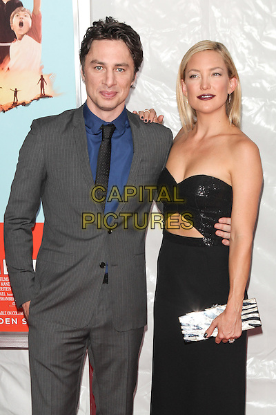 NEW YORK, NY - JULY 14: Zach Braff and Kate Hudson attend the 'Wish I Was Here' screening at AMC Lincoln Square Theater on July 14, 2014 in New York City.  <br /> CAP/MPI/COR<br /> &copy;COR/MPI/Capital Pictures