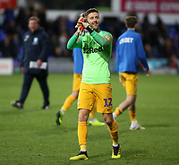 Preston North End's Paul Gallagher applauds the fans at the final whistle <br /> <br /> Photographer David Shipman/CameraSport<br /> <br /> The EFL Sky Bet Championship - Ipswich Town v Preston North End - Saturday 3rd November 2018 - Portman Road - Ipswich<br /> <br /> World Copyright &copy; 2018 CameraSport. All rights reserved. 43 Linden Ave. Countesthorpe. Leicester. England. LE8 5PG - Tel: +44 (0) 116 277 4147 - admin@camerasport.com - www.camerasport.com