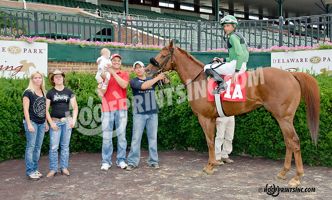 Cole and Taylor winning at Delaware Park on 7/25/13