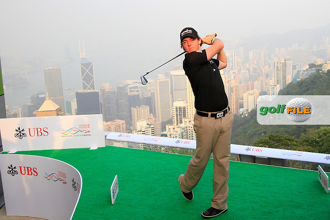 "World Number One, Rory McIlroy (NIR) during the ""Meet the Players"" Press Conference and Photo Call held at the Pearl on the Peak, The Peak Tower, Hong Kong ahead of the UBS Hong Kong Open 2012, Hong Kong Golf Club, Fanling, Hong Kong. 13/11/12...Photo www.golffile.ie"