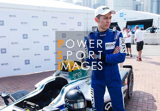 Hong Kong Cantopop singer Pakho Chau attends the FIA Formula E Hong Kong E-Prix Round 2 at the Central Harbourfront Circuit on 03 December 2017 in Hong Kong, Hong Kong. Photo by Marcio Rodrigo Machado / Power Sport Images