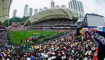 Tonga play Chinese Taipei on Day 2 of the Cathay Pacific / HSBC Hong Kong Sevens 2013 on 23 March 2013 at Hong Kong Stadium, Hong Kong. Photo by Manuel Queimadelos / The Power of Sport Images