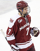 Michael Pereira (UMass - 7) - The Boston College Eagles defeated the visiting University of Massachusetts-Amherst Minutemen 2-1 in the opening game of their 2012 Hockey East quarterfinal matchup on Friday, March 9, 2012, at Kelley Rink at Conte Forum in Chestnut Hill, Massachusetts.