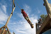 Rope swing at Barnard Park Adventure Playground, Islington