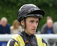 Jockey Keelan Baker during Racing at Salisbury Racecourse on 5th September 2019