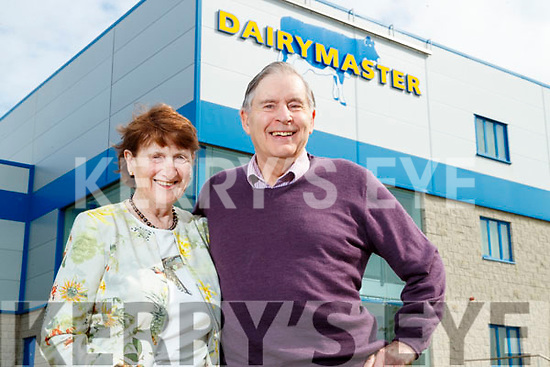 Maureen and Ned Harty family pictured at the Dairymaster factory in Causeway during the 50 year celebrations.