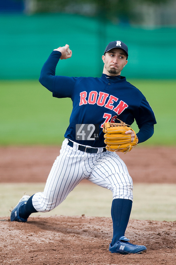 BASEBALL - ELITE - CLERMONT-FERRAND (FRANCE) - STADE DES CEZEAUX - 01/05/2008 -  .LAURENT AOUTIN (ROUEN HUSKIES)