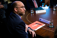 Russell Vought, acting director of the Office of Management and Budget, listens as U.S. President Donald Trump speaks during a cabinet meeting in the Cabinet Room of the White House, on Wednesday, Jan. 2, 2019 in Washington, D.C. Photo Credit: Al Drago/CNP/AdMedia