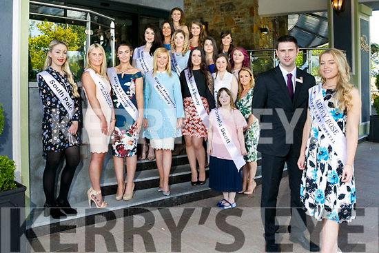 Looking for the 2017 Kerry Rose at the Kerry Rose Gathering Info Day at the Rose Hotel on Monday. Pictured Kerry Rose 2016 Danielle O'Sullivan with David Fitzgerald, Rose Hotel food and beverage manager and Contestants For The Kerry Rose 2017