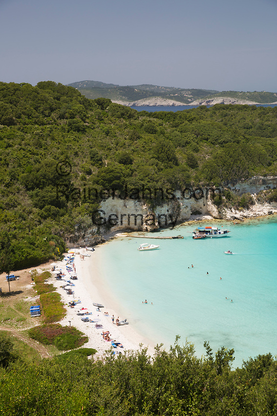 Greece, Ionian Islands, Antipaxos: Voutoumi beach | Griechenland, Ionische Inseln, Andipaxos (Antipaxos): Voutoumi beach