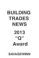 "Building Trades News 2013 ""Q"" Award"
