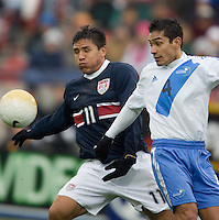 Brian Ching traps the ball before scoring the USA's second goal at Pizza Hut Park in Frisco, Texas, Sunday, Feb. 19, 2005.  USA won 4-0.