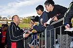 Young Steelers fans wait for an autograph from Dave Duley. Air New Zealand Air NZ Cup warm-up rugby game between the Counties Manukau Steelers & Tasman Mako's, played at Growers Stadium Pukekohe on Sunday July 20th 2008..Counties Manukau won the match 30 - 7.