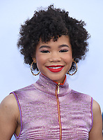 "08 April 2019 - Westwood, California - Storm Reid. ""Little"" Los Angeles Premiere held at Regency Village Theater. Photo Credit: Birdie Thompson/AdMedia"