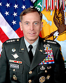 "Tampa, FL - (FILE) -- File photo taken August 20, 2009 of General David H. Petraeus, who assumed command of the United States Central Command in October 2008, after serving for over 19 months as the Commanding General, Multi-National Force-Iraq.  Prior to his tour as MNF-I Commander, he commanded the U.S. Army Combined Arms Center and Fort Leavenworth.  Before that assignment, he was the first commander of the Multi-National Security Transition Command-Iraq, which he led from June 2004 to September 2005, and the NATO Training Mission-Iraq, which he commanded from October 2004 to September 2005.  That deployment to Iraq followed his command of the 101st Airborne Division (Air Assault), during which he led the ""Screaming Eagles"" in combat throughout the first year of Operation Iraqi Freedom.  His command of the 101st followed a year deployed on Operation Joint Forge in Bosnia, where he was the Assistant Chief of Staff for Operations of the NATO Stabilization Force and the Deputy Commander of the US Joint Interagency Counter-Terrorism Task Force-Bosnia. Prior to his tour in Bosnia, he spent two years at Fort Bragg, North Carolina, serving first as the Assistant Division Commander for Operations of the 82nd Airborne Division and then as the Chief of Staff of XVIII Airborne Corps..Credit: DoD via CNP"
